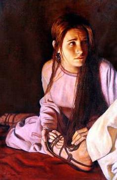 Mary anoints Jesus