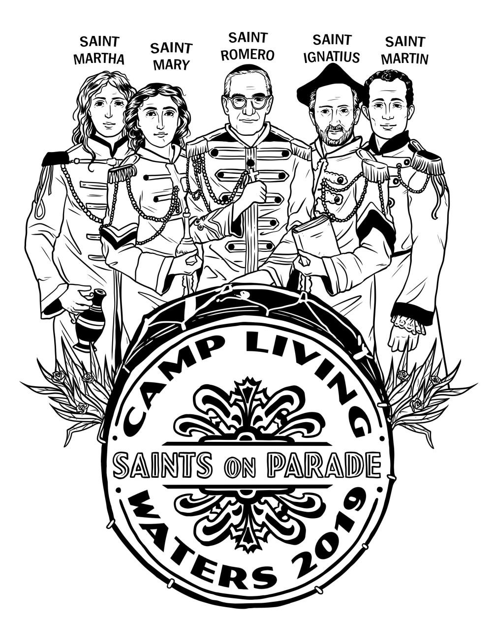Saints On Parade Tee Shirt Design.jpg